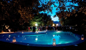 finca El Tomillar piscina noche | El Puchero de Plata