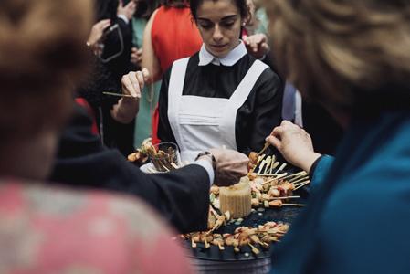 Mercedes y Luisfe Real Fabrica de Tapices El Puchero de Plata Catering