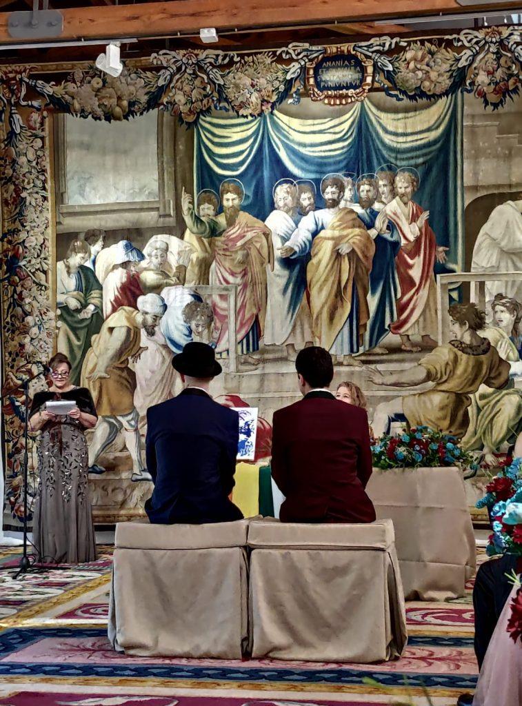 boda en la real fabrica de tapices